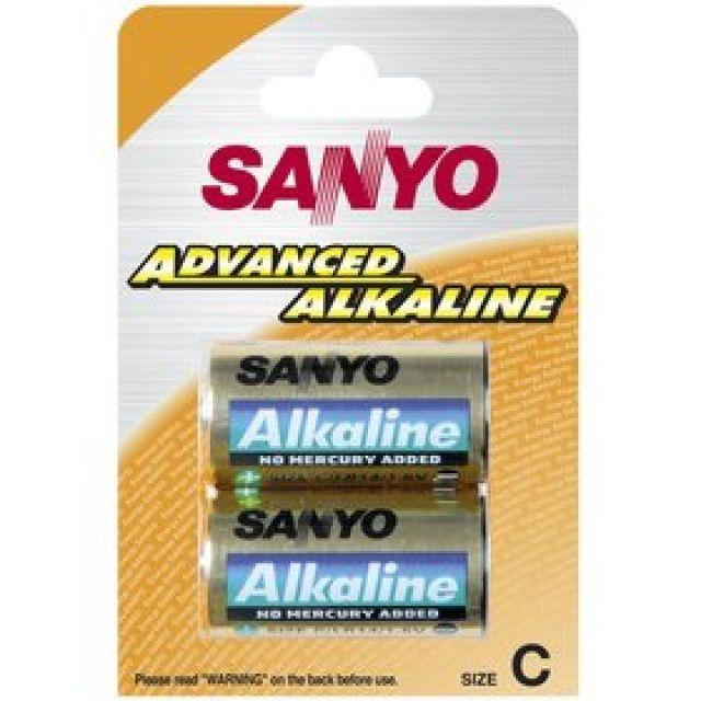 C alkalická baterie, malý monočlánek SANYO